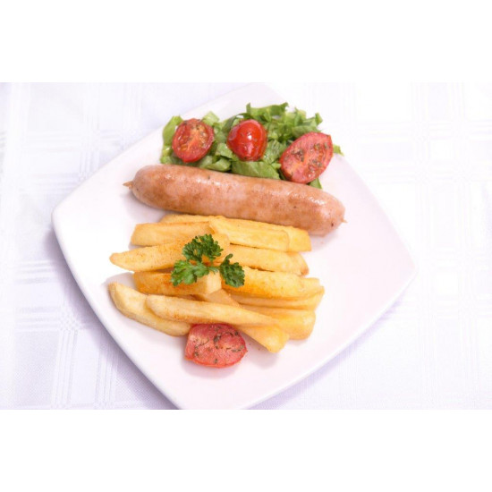 Chicken Sausage and Fries
